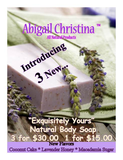 Abigail Christina's Natural Product Line...